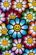 Smile Flowers Print by Tim Gainey