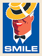 Smile Digital Art Posters - Smile Poster by Gary Grayson