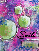 Colorful Prints - Smile Print by Melissa Sherbon