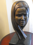 Famous Sculptor Sculptures - Smile Through Tears by JA Fligel