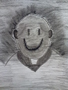 Featured Drawings Prints - Smiley Print by Bryant Dodd