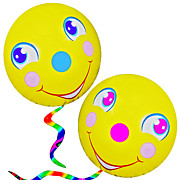 Expressive Expressions Digital Art - Smiley Face Balloons by Susan Leggett