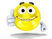 Feelings Digital Art - Smiley face showing ok sign by Michal Bednarek