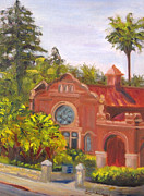 Library Painting Originals - Smiley Library by Terry  Chacon