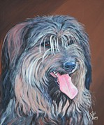 Tongue Painting Originals - Smiley by Shirl Theis