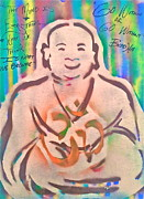 Smiling Brown Buddha  Print by Tony B Conscious