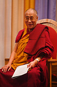 Buddhist Monk Photos - Smiling Dalai Lama by Craig Lovell