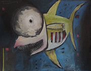 Funny Paintings - Smiling Fish by Tim Nyberg