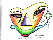 Spirits Drawings - Smiling  Triangle by Feile Case