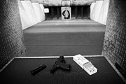 Practise Photos - Smith And Wesson 9mm Handgun With Ammunition At A Gun Range In Florida by Joe Fox