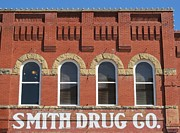 Small Towns Prints - Smith Drug Company Building Print by Donna Wilson