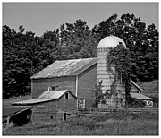 Barn And Silo Prints - Smith Farm  Print by Don and Sheryl Cooper