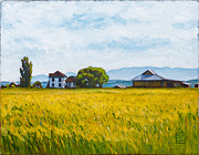Farm House Paintings - Smith Farm by Stacey Neumiller