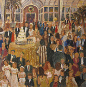 Wedding Reception Paintings - Smith-Lee Wedding Reception by Barbara Davis