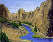 Crooked Mixed Media - Smith Rock by Kenny Henson