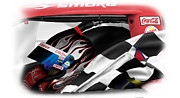 Nascar Digital Art Prints - Smoke 2 Print by Mike Shaw