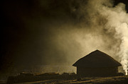 Hut Prints - Smoke and Darkness Print by Aaron S Bedell