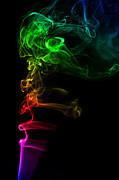 Smoking Trail Prints - Smoke Art 3 Print by Karl Wilson