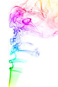 Smoke Trails Posters - Smoke Art 4 Poster by Karl Wilson