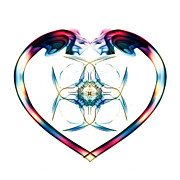Trippy Digital Art - Smoke HeART 2 by Steve Purnell
