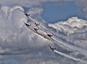 Yak 52 Framed Prints - Smoke On Framed Print by Peter Chapman