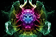 Trippy Posters - Smoke Warrior Poster by Steve Purnell