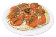 Italian Meal Framed Prints - Smoked Salmon Pizza Framed Print by JPLDesigns
