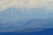Smokey Mountains Art - Smokey Blue Flat Top by Peter  McIntosh