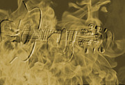 Tennessee. Country Music Digital Art - Smokin Guitar by Phillip Price