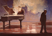 Smokin Piano Print by Emily Gibson