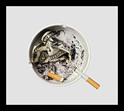 Behaviors Framed Prints - Smoking also kills your pocket and fills the politicians Framed Print by Juan Carlos Ferro Duque
