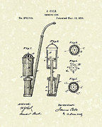 Smoking Drawings - Smoking Pipe 1883 Patent Art by Prior Art Design