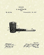Smoking Drawings Posters - Smoking Pipe 1897 Patent Art  Poster by Prior Art Design