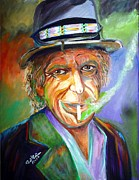 Keith Richards Painting Originals - Smoking by To-Tam Gerwe