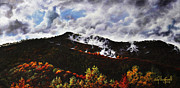Smoky Mountains Paintings - Smoky Mountain Angel Hair by Craig T Burgwardt