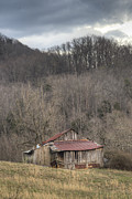 Tin Roof Prints - Smoky Mountain Barn 1 Print by Douglas Barnett