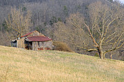 Tennessee Barn Prints - Smoky Mountain Barn 5 Print by Douglas Barnett