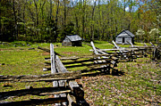 Split Rail Fence Photo Metal Prints - Smoky Mountain Cabins Metal Print by Paul W Faust -  Impressions of Light