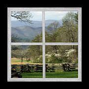 Split Rail Fence Prints - Smoky Mountain Dogwood Blossoms Print by TnBackroads Photography