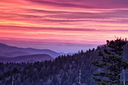 Great Smoky Mountains Posters - Smoky Mountain Evening Poster by Andrew Soundarajan