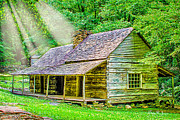 Tennessee Historic Site Photo Framed Prints - Smoky Mountain Homestead Framed Print by Barry Jones