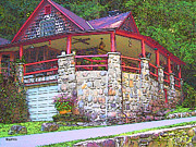 Log Cabin Art Photos - Smoky Mountain Log Cabin by Rebecca Korpita