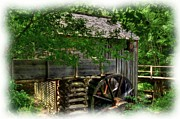 Grist Mills Framed Prints - Smoky Mountain Mill Framed Print by Mel Steinhauer