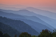 Haze Metal Prints - Smoky Mountain Morning Metal Print by Andrew Soundarajan