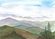 Smoky Mountains Paintings - Smoky Mountain Morning by Rosie Phillips