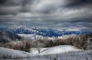 Smoky Mountain Range Print by John Haldane
