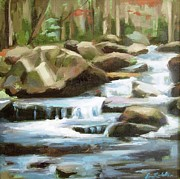 Gatlinburg Originals - Smoky Mountain Stream by Erin Rickelton