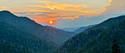 Unreal Framed Prints - Smoky Mountain Sunset Framed Print by Robert Harmon