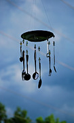Chimes Prints - Smoky Mountain Windchime Print by Christi Kraft