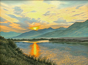 Smoky Sunrise-yellowstone River   Print by Paul Krapf